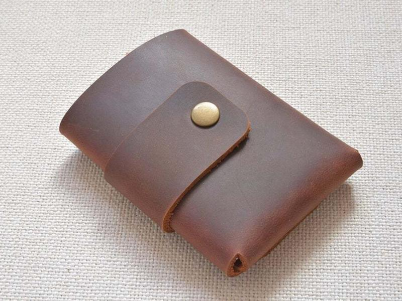 Leather trifold mens wallet ta-047-1