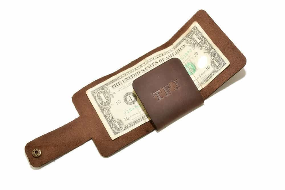 Leather trifold mens wallet ta-047-2