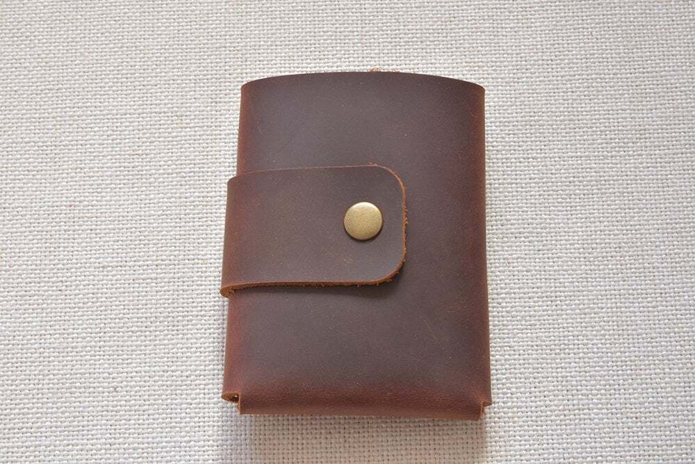 Leather trifold mens wallet ta-047-4
