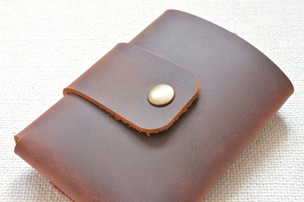 Leather trifold mens wallet ta-047-6